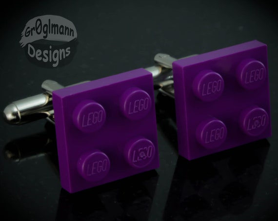 Purple Tile Cufflinks :) made with LEGO bricks