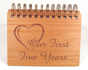 Anniversary Photo Album - 5 Year Anniversary - Wood Anniversary