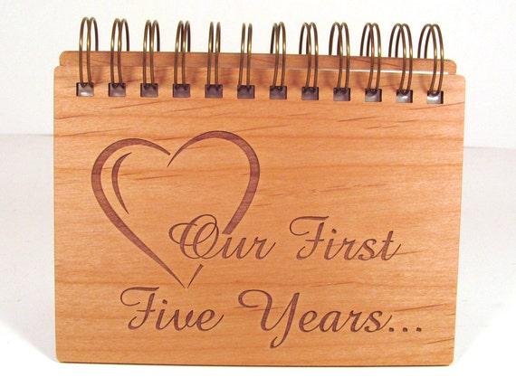 Anniversary Photo Album 5 Year Anniversary Wood