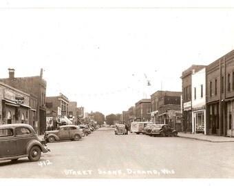 1930s RP Postcard, Durand, WI, Main Street