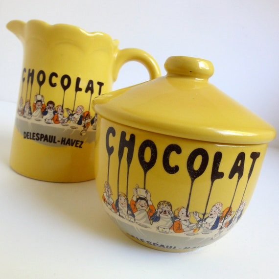 Delespaul Havez Chocolat Creamer and Sugar