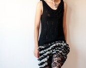 Black and Silver Knitted Formal Dress