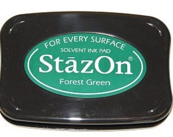 Green StazOn Ink pad Forest Green permanent stamp pad --9310