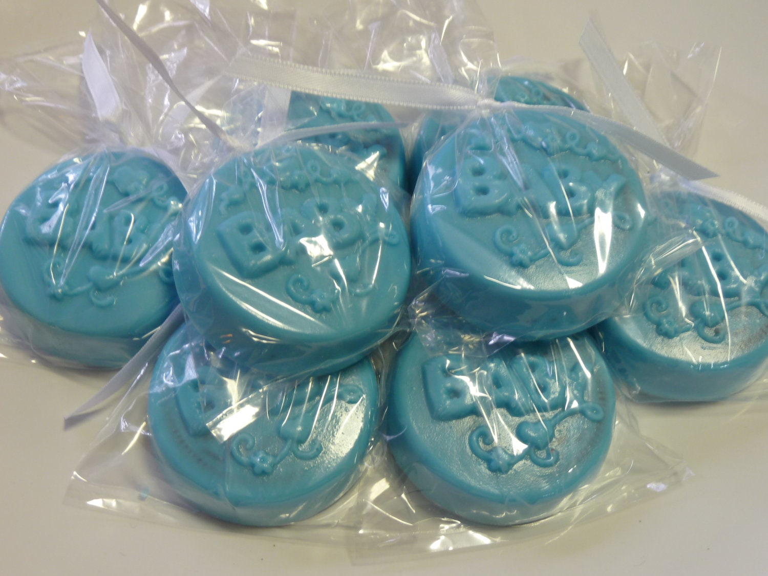 Lovely Dipped Oreos For Baby Shower Part - 14: Chocolate Covered Oreos Baby Shower