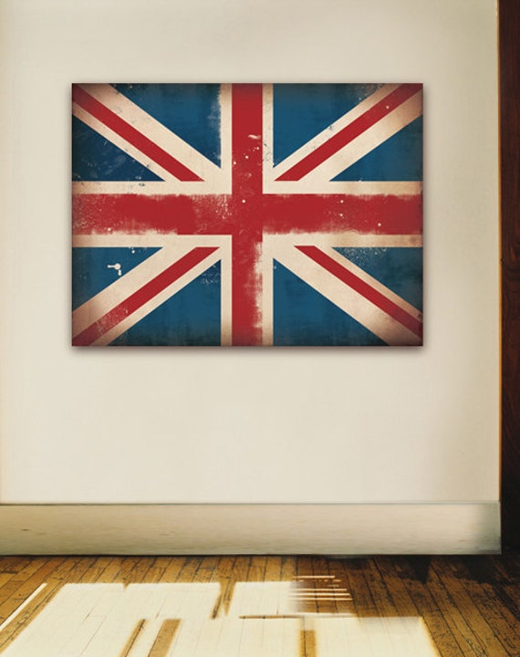 Union Jack British Flag graphic art on gallery wrapped canvas by Stephen Fowler