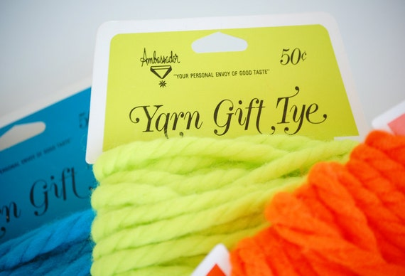 Vintage 1960s Day Glow Yarn