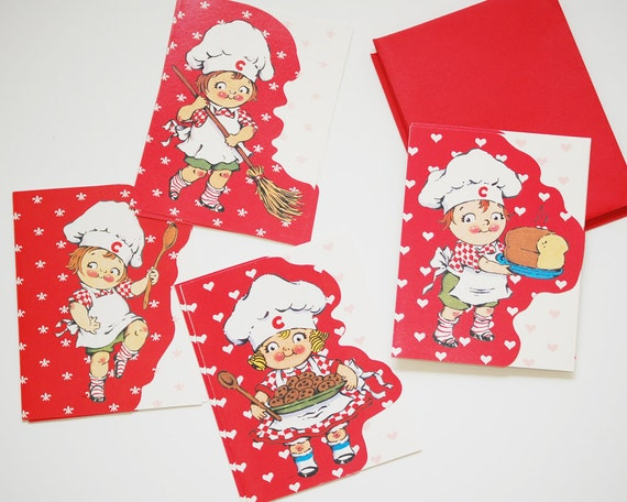 Vintage 1992 Campbells Soup Kids Greeting Cards, Set of Eight