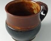 Coffee / Tea / Cocoa Mug - Coffee Brown and Spicy Tan