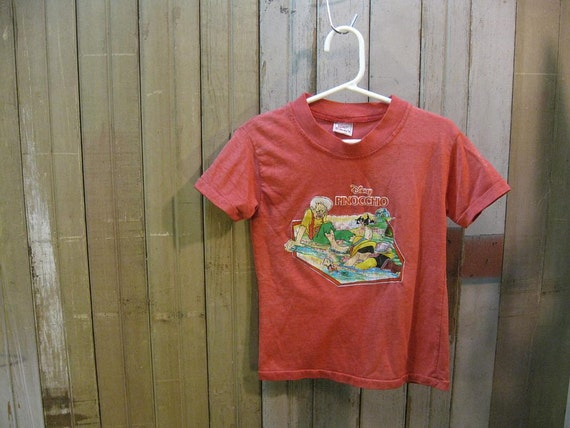 70s Pinocchio Disney vintage T Shirt S 4 5 Disneyland souvenir fairytale movie tshirt