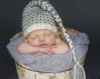 Newborn Baby Hat Knit Elf Pixie Hat Photography Prop