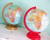 RESERVED for salvagelife... Out of This World... TWO Vintage Replogie Globes