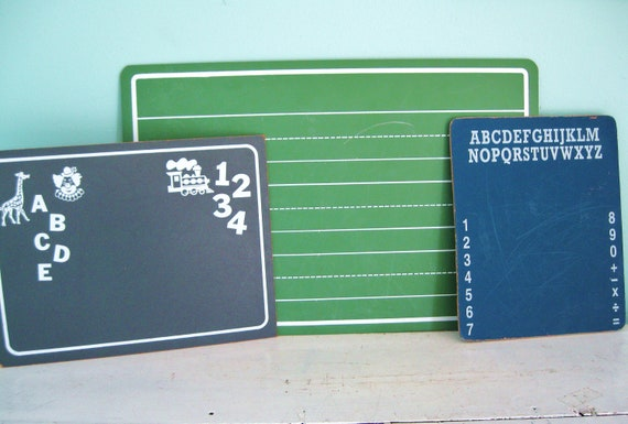 ABC's and 123's... Vintage ABC Alphabet and 123 Numbers and Writing Chalkboards Blackboards