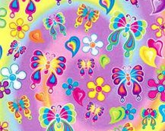 Vintage Lisa Frank Butterfly Long Sticker Strip FULL STRIP S418