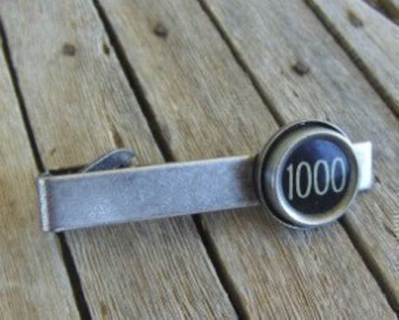 Tie Clip, Custom Made for you with the Vintage Typewriter Key of your choice