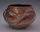 Small Colorful Raku Ceramic Vase