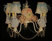 Cinderella Princess Chandelier, Girl's Room Lighting Fixture, Kid's Lighting, Princess Room Ceiling Fixtue