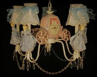 Cinderella Princess Chandelier - Girl's Room Lighting Fixture - Kid's Lighting - Princess Room Ceiling Fixtue