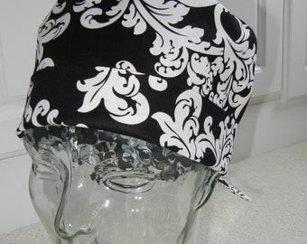 Tie Back Surgical Scrub Hat with Elegance