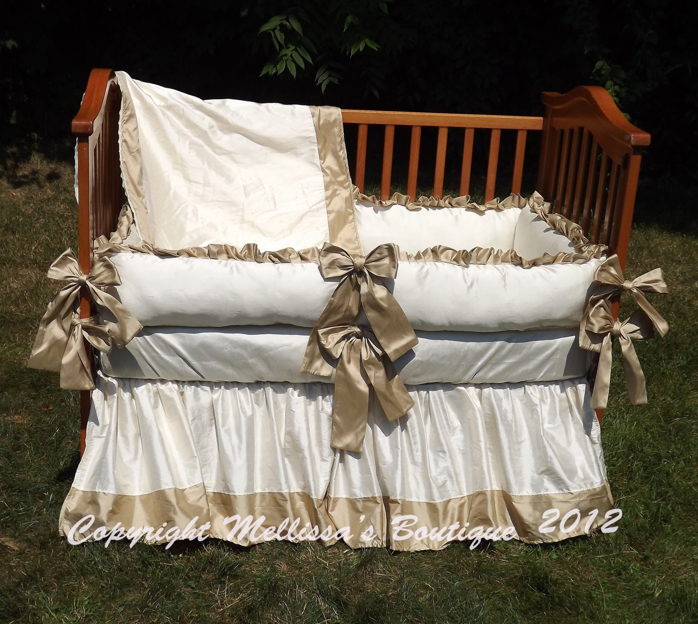 NEW Custom Faux Dupioni Silk Luxury Posh Baby Nursery with