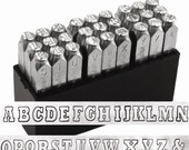 UPPERCASE steel letter stamps - by ImpressArt VARSITY - 6mm letters - includes how to stamp metal tutorial