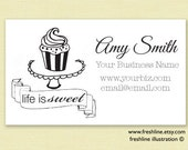 Business Card Stamp, Business Cards, Shop Packaging, Custom Business Stamp