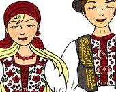 Croatian Folklore Dancers - Custom hair and names...and number of dancers
