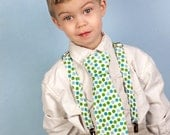 Boys Necktie and Suspender sets Custom made newborn to 9 years. baby Boy Toddler Neckties