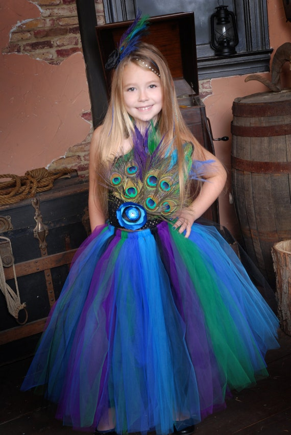 Peacock Princess Tutu Dress Perfect For Pageants Birthday