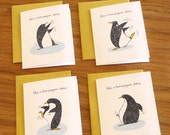 This Is How Penguins Dance Greeting Card - Set of Four