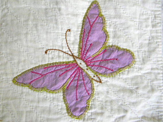 vintage butterfly pillow cover no. 18 purple