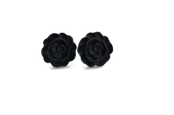 Black Flower Earrings Buy 3 Get 1 Free