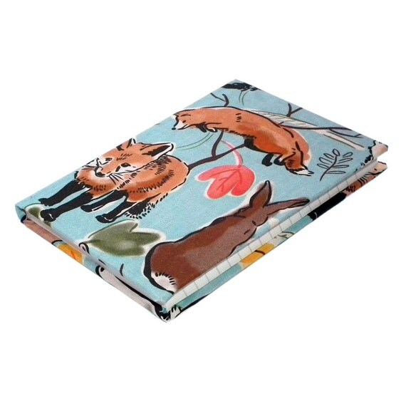 A6 lined Fox and Rabbit Notebook