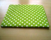 Polka Dots Lime Green Laptop cover Padded and Zipper Closure for MacBook 13 Inch Pro or 13 Inch Air