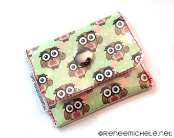 Owl Print Coin Purse