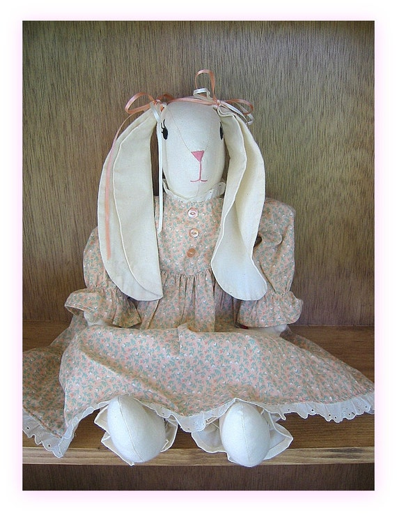 Homesewn Country Bunny in Floral Dress