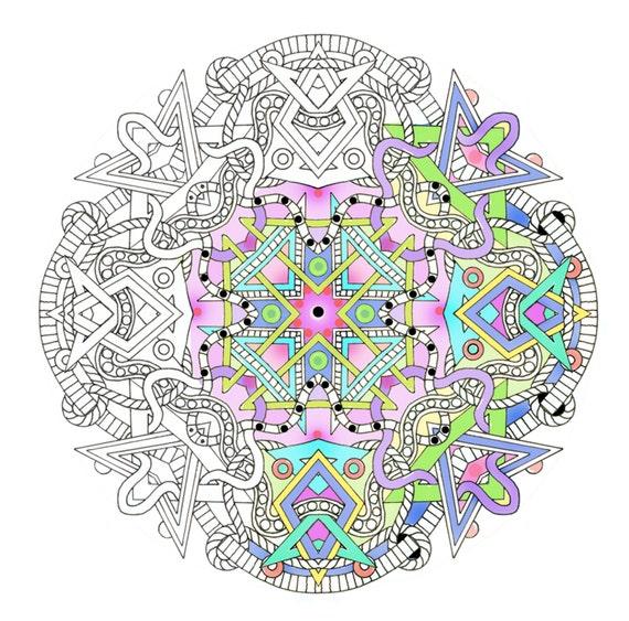 Mandalas- Adult Coloring Pages - Shapes