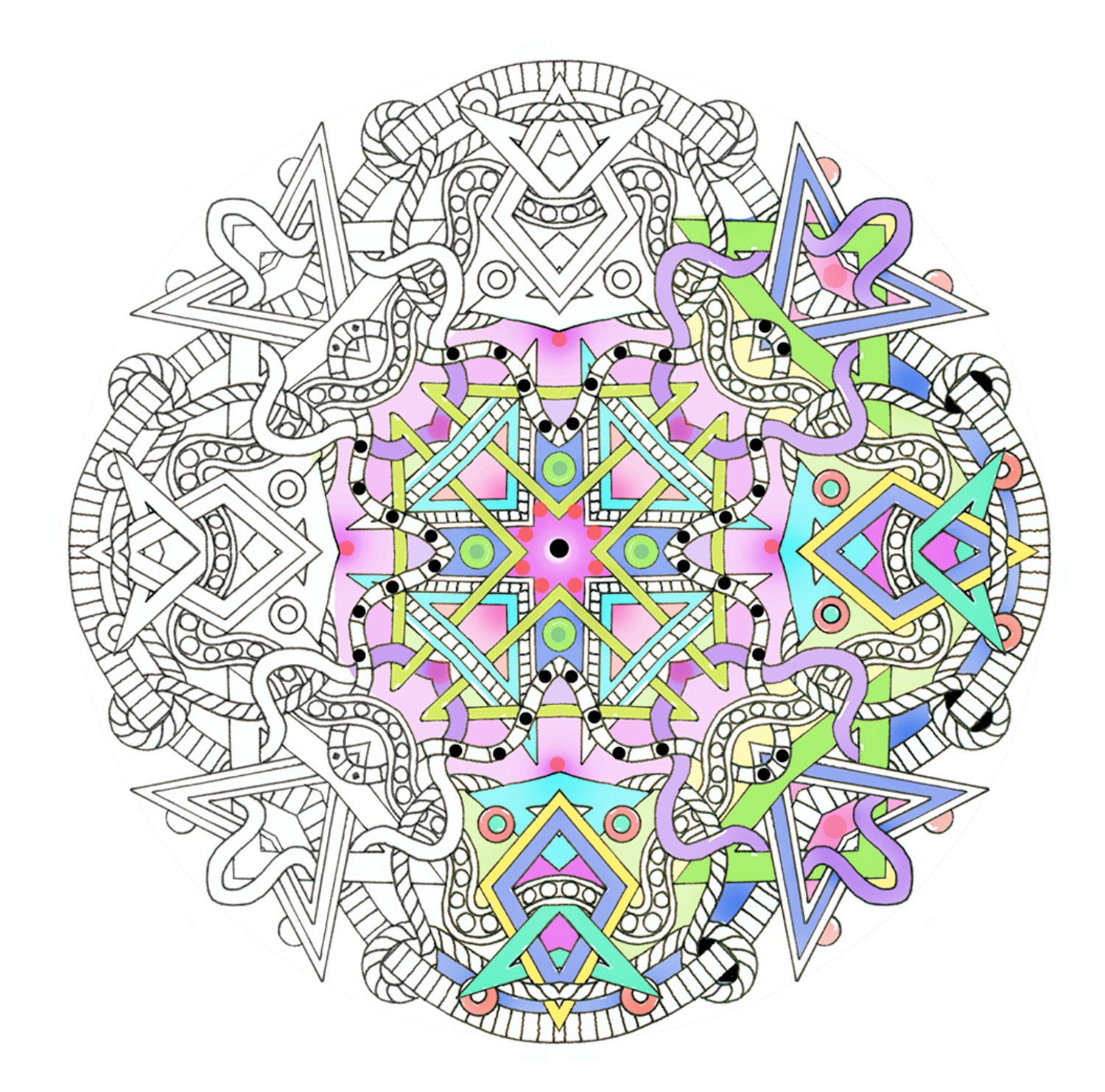 adult coloring mandala pages - photo#13