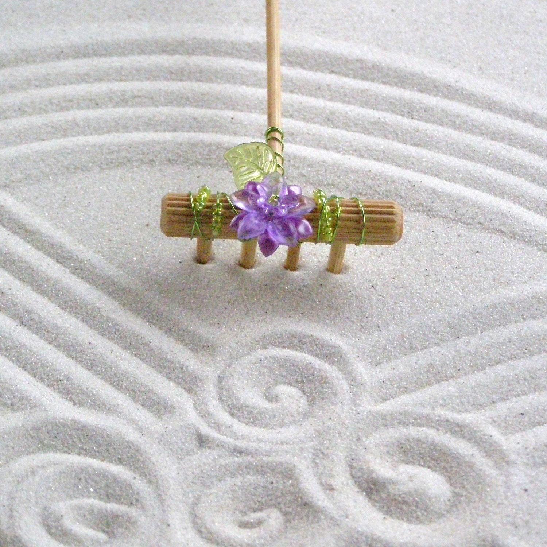Mini tabletop zen garden rake handmade in oregon u s a for Table zen garden