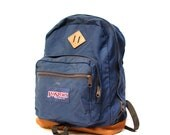 vintage 70s 80s JANSPORT navy canvas BACKPACK daypack unisex made in USA