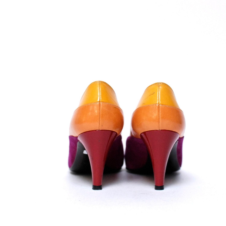 color block heels
