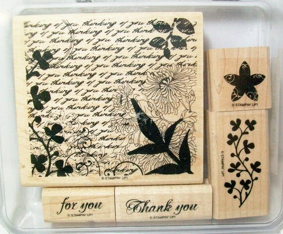 CLEARANCE SALE  - Retired Stamp Set - Fresh Cuts by Stampin Up - DESTASH