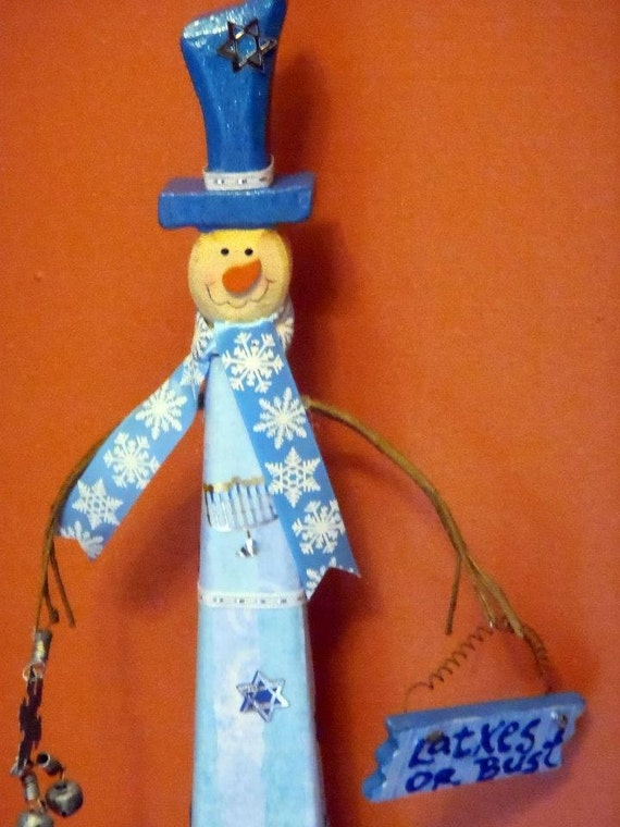 Latke the Chanukah Snowman