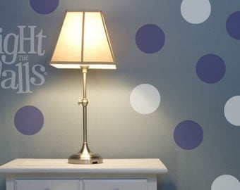 20pc Dots Wall Decals Polka Dot Wall Art Stickers Removable Bedroom Wall Decor