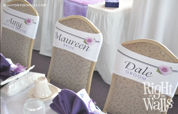 Wedding Personalized Lycra Chair Sash Flower by