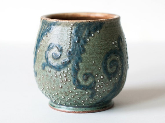 Starry Night Stoneware Cup, 14 Ounces