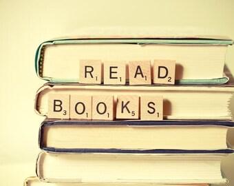 books / bookworm / book lover / dreamy wall art / kids room decor /  words /simplicity / teacher gift home decor / wall art / Read Books