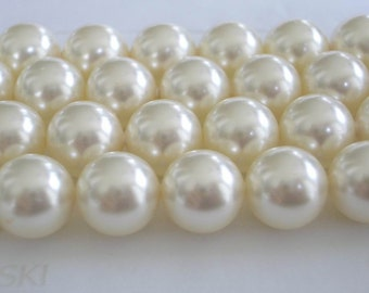 10 Cream Swarovski Crystal Beads Pearls 5810 10mm