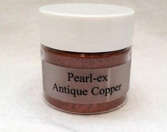 Jacquard Pearl Ex Mica Pigment Powder - 6 gram Jar - ANTIQUE COPPER #661