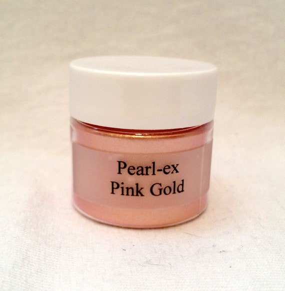 Pearl Ex Mica Pigment Powder 6 gm Jar PINK GOLD #643 - Art Craft Paint Medium Mixed Media Collage Jewelry Resin Clay Metallic Faux Finish