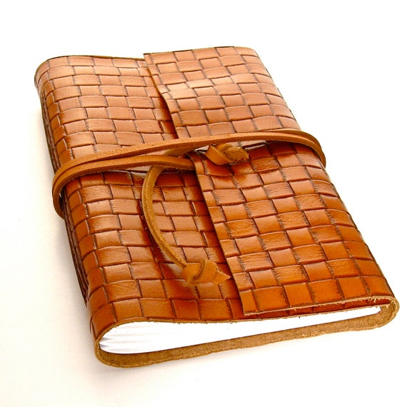 Large Brown Leather Journal and Sketchbook,  A Handmade Leather Journal in Warm Caramel Brown